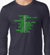 Oregon Trail - Ways to Die in the West Long Sleeve T-Shirt
