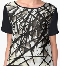 Abstract Lines 10 Women's Chiffon Top