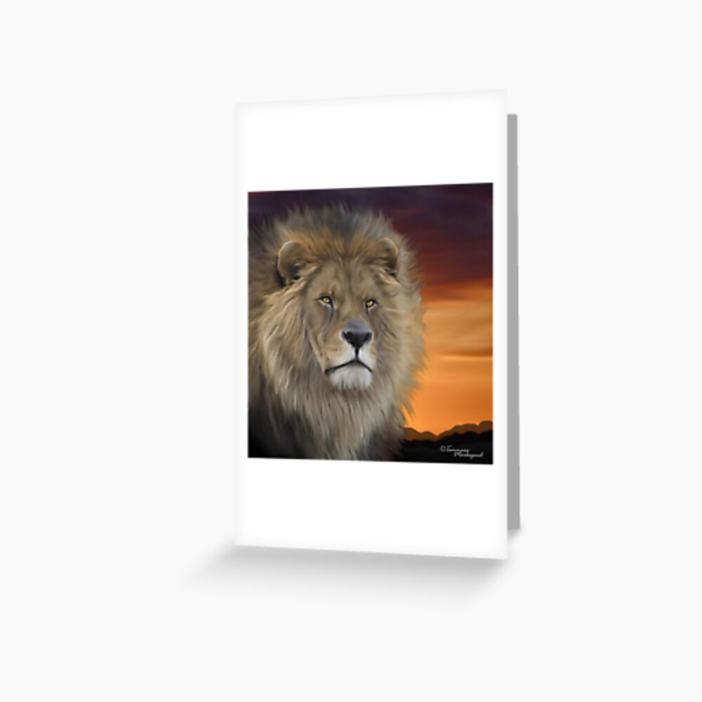 His Majesty Greeting Card