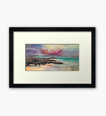 Harris Rocks Framed Print