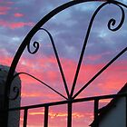 Sunset Through The Gate by lezvee