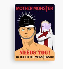 Join the Little Monsters Canvas Print