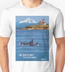 Vintage Travel Poster - San Juan Islands National Monument (2014) T-Shirt