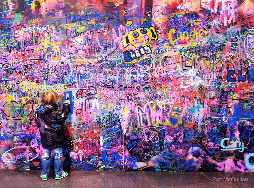 Young Graffiti Artist by Roz McQuillan