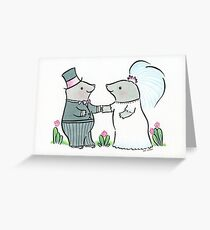 Mole Wedding Greeting Card