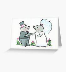 Mole Wedding Greeting Card