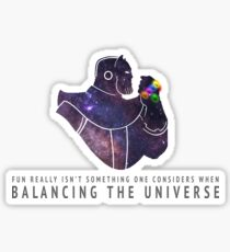 Thanos - Balancing The Universe Sticker