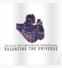 Thanos - Balancing The Universe Poster