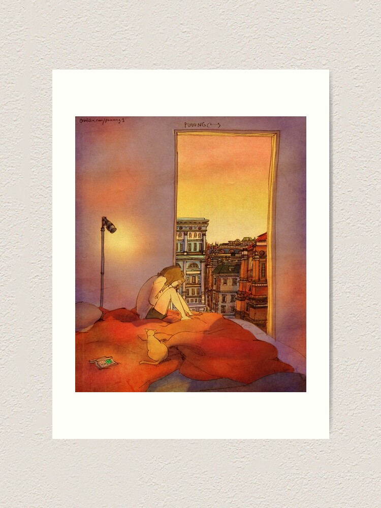 Alternate view of A day when nothing can cheer me up  Art Print