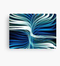 Flowing Fractal Lines Canvas Print