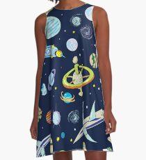 Vestido acampanado Aventura espacial