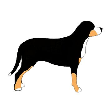 greater swiss mountain dog color silhouette by marasdaughter