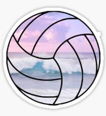 Pastel beach volleyball Sticker