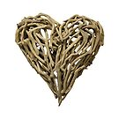 Wood Heart Sticker by texashandmade
