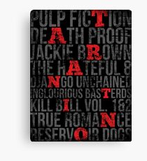 QUENTIN TARANTINO MOVIES VINTAGE GRUNGE STYLE Canvas Print