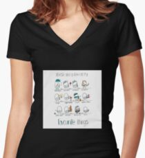 Favourite Things Women's Fitted V-Neck T-Shirt