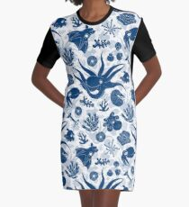 Cephalopods: Grunge Graphic T-Shirt Dress