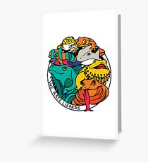 We Rate Lizards  Greeting Card