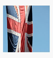 British flag blowing in the breeze Photographic Print