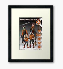 Engineering Division (Enlisted) Framed Print