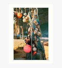 Sennen Fishing Floats Art Print