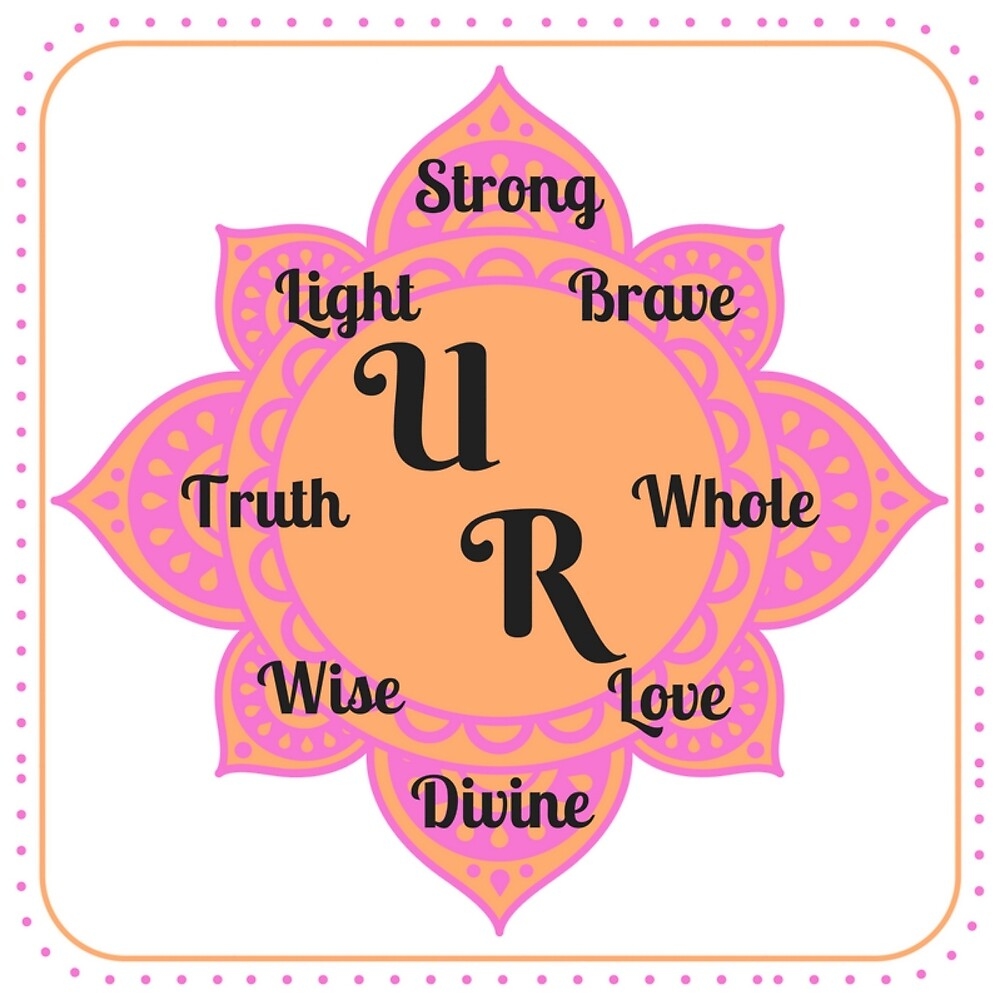 You (U) Are (R)... Positive Affirmation #affirmation #art #inspirational by Jacqueline Cooper