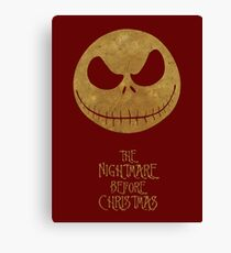 The Nightmare of Jacks Face Canvas Print