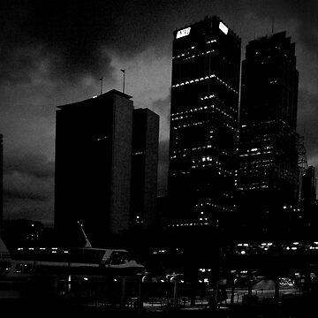 in the dark of the city  by JuileeP