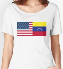 USA y Venezuela United Colors Women's Relaxed Fit T-Shirt