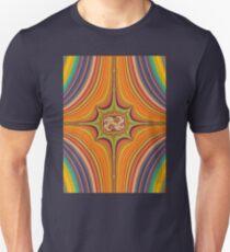 Yellow and Orange Symmetrical Pattern T-Shirt