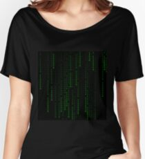 """Ethereum"" Cryptocurrency Matrix Print Women's Relaxed Fit T-Shirt"