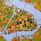 imaginary map of Dallas by federico cortese