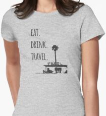 Eat. Drink. Travel. - Traveling Foodie T-Shirt