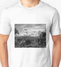 Landscape view of the exotic rainforest through the trees in Borneo, Malaysia T-Shirt
