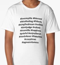 Hashtags Long T-Shirt