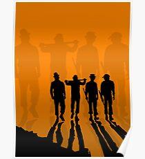 Clockwork Orange - silhouette the droogs Poster