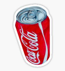 Bright Red Coca-Cola Can Sticker
