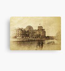 berlin reichstag, vintage Canvas Print
