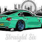 Straight Six V6 - Sticker by BBsOriginal