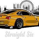 Straight Six V8 - Sticker by BBsOriginal