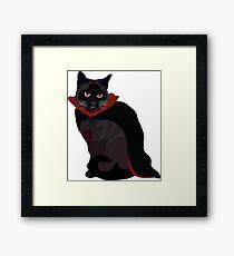 Vampire Cat Framed Print