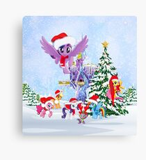 my little pony christmas Canvas Print
