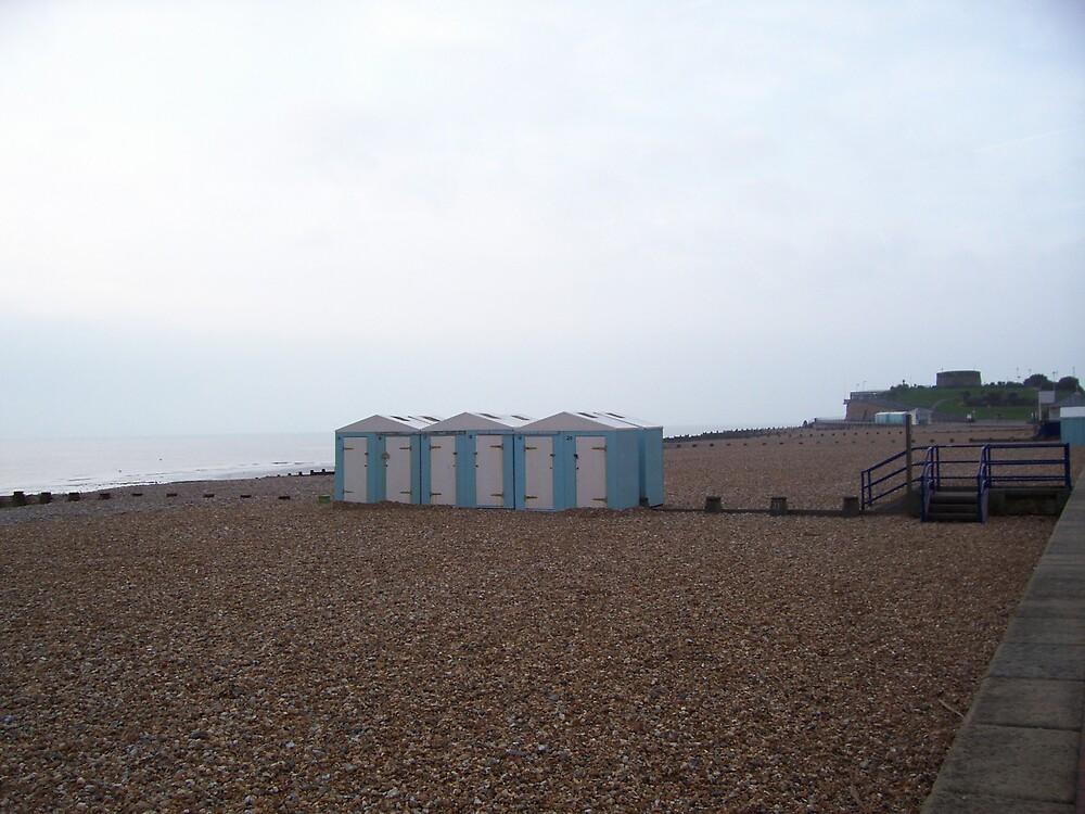 3 huts, Eastbourne UK by reubenroy