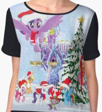 my little pony christmas Chiffon Top