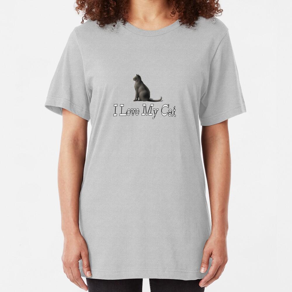 I Love My Cat Slim Fit T-Shirt