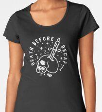 Death Before Decaf Women's Premium T-Shirt