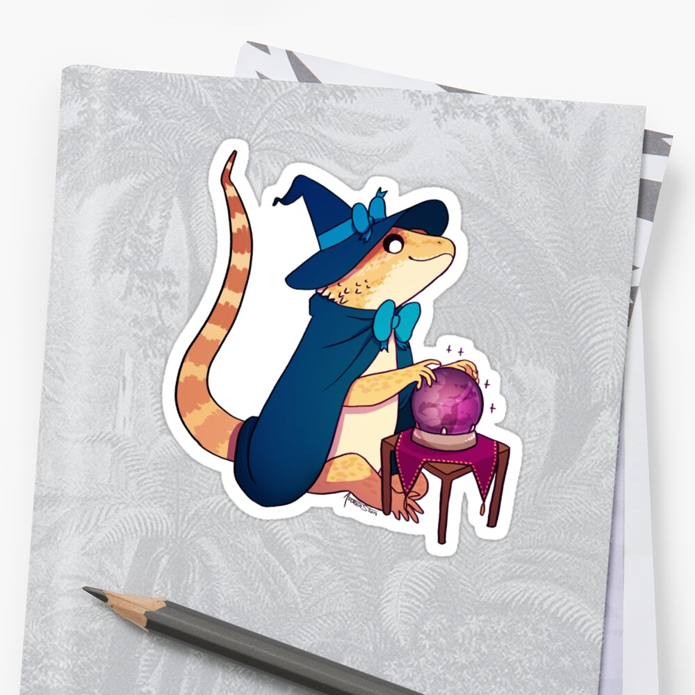 Bearded Dragon Hawke 1 Stickers By Andrea Sutinen Redbubble