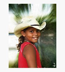Corel Painting of Skylar Photographic Print