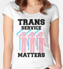Trans Service Matters Women's Fitted Scoop T-Shirt