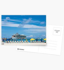 Cruise Ship in St Martin Postcards